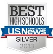 US News and World: 2013 Best High Schools Silver award