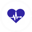 Heart icon with heartbeat graph